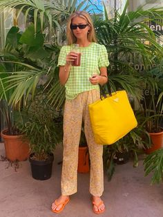 lime green aesthetic trend: emilie sindlev in a gingham top Fashion Mode, Look Fashion, Fashion Beauty, Fashion Outfits, Fashion Trends, Riot Grrrl, Grunge Goth, Mode Inspiration, Summer Looks