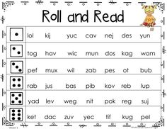 These Nonsense Word Roll and Reads are great for your literacy centers or RTI centers. They are perfect for practicing for the DIBELS or AIMSweb. There are 15 board games included!