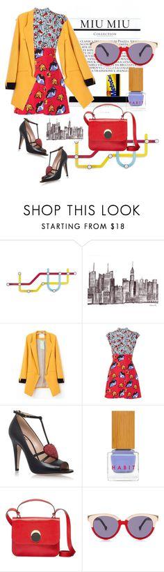 """#LAFS"" by jedeg ❤ liked on Polyvore featuring Umbra, Miu Miu, Gucci, Habit Cosmetics, Marni, Preen and vintage"