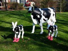 Easter Cows on Parade