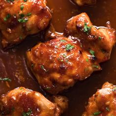 Sticky Baked Chicken Thighs - Food Cravings Sticky Baked Chicken Thighs It's incredibly simple, made with pantry staples and uses a highly effective method for cooking chicken thighs in the oven. Chicken Thighs In Oven, Boneless Skinless Chicken Thighs, Baked Chicken Breast, Recipes For Chicken Thighs, Sticky Chicken Thighs, Simple Chicken Thigh Recipes, Asian Chicken Thighs, Chicken Thigh Marinade, Chicken Breasts