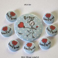 Button Set JGA – Hochzeit – Braut - Kreawusel-handmade
