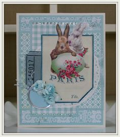 Vintage Inspired Easter Greeting Card