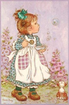 Vintage Postcard Sarah Kay by CuteEyeCatchers on Etsy Sarah Key, Holly Hobbie, Vintage Cards, Vintage Postcards, Vintage Pictures, Cute Pictures, Decoupage, Happy Merry Christmas, Christmas 2019