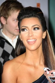 Kim Kardashian- I want to do my hair like this and have it actually stay in place!