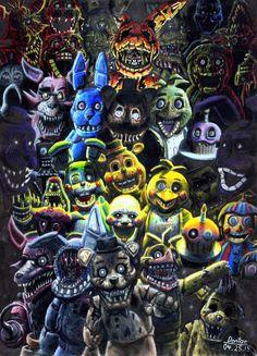 five nights at freddys fnaf 1 2 3 4 5 pixel sprite geeksomniac horror game phone case laptop leggings nightmare mug sticker stickers 8 bit animatronics springtrap golden bonnie freddy foxy Five Nights At Freddy's, Freddy S, Yandere, Good Horror Games, Fnaf Characters, Fnaf Sister Location, Freddy Fazbear, School Bags For Girls, Best Horrors