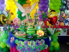 Torta y Decoración de #Tinkerbell #Campanita