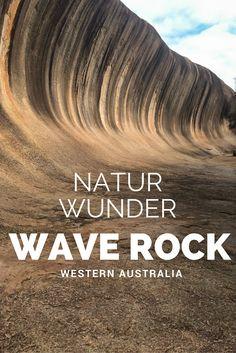 Der Wave Rock in Western Australia ist ein echtes geologisches Wunder. Der Granitfelsen sieht aus wie eine erstarrte Welle.  Knapp 350 km außerhalb von Perth bietet das Outback Australiens aber noch mehr.  Tipps und Informationen  #australien #reisen