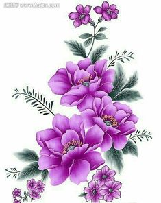 Flores Discover Items similar to Flowers Watercolor Painting Art Print on Etsy Enjoying The Journey:Cancer As A Lifestyle: An Early Riser . Tole Painting, Fabric Painting, Watercolor Painting, Art Floral, Illustration Blume, Decoupage Paper, Flower Pictures, Flower Wallpaper, Paint Designs