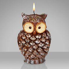 Buy John Lewis Rural Owl Candle Online at johnlewis.com