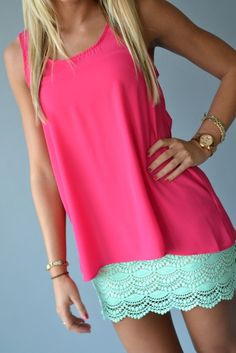 <3 mint, lace and its a skirt! I must have..