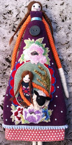 DIY - ideas for felting or sewing - for long dolls  -  (by Annie Montgomerie)