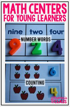 Fun, hands-on math centers for practice with counting, number sequence, and number words. Pack includes number charts to hang in your classroom! Kindergarten Math Activities, Counting Activities, Number Chart, Number Sequence, Math Work, Number Words, Math Numbers, Task Cards, Anchor Charts