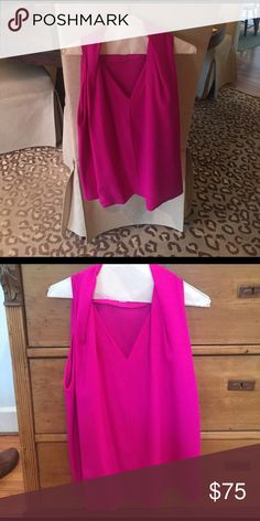 Diane Von Furstenberg blouse. Diane Von Furstenberg magenta blouse. Worn once. Excellent condition. Make an offer! Diane von Furstenberg Tops Blouses