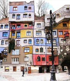 Yes or no?  #Vienna Spectacular #architecture and colourful houses of Hundertwasserhaus in Vienna #Austria Photo: @Mehmetsert - Architecture and Home Decor - Bedroom - Bathroom - Kitchen And Living Room Interior Design Decorating Ideas - #architecture #design #interiordesign #homedesign #architect #architectural #homedecor #realestate #contemporaryart #inspiration #creative #decor #decoration