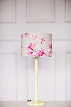 Grey Lamp shade Pink Lampshade Floral by ShadowbrightLamps on Etsy