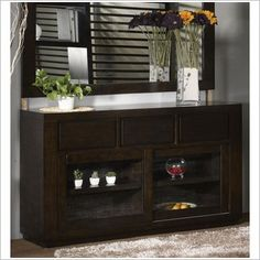 By Designs Entertainment Sideboard in Haliton Brown