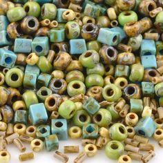 Seed Beads-Various Shapes-20 Earth Mix-Miyuki-Toho