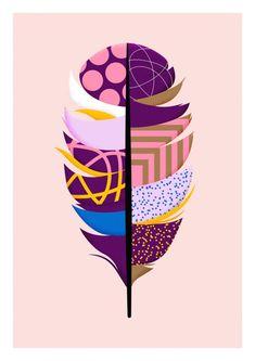 Feather print by Karan Singh