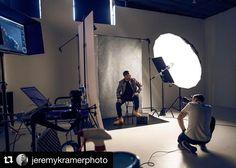 Behind the scenes by @jeremykramerphoto : The pursuit of perfect light #studio #lighting #profotousa #makeportraits #bts #jeremykramerphoto