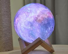 Moon Light Lamp, Moon Lights, Galaxy Decor, Galaxy Design, Galaxy Print, Night Lamps, Led Night Light, Cute Night Lights, Bedroom Night Light