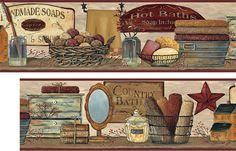 Handmade Soap Country Bath Wall Border Will Add A Country Splash To Your Bath Resim Desenler
