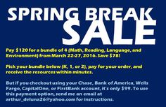 K-12 Assessment Essentials (Mister Dee) SAT-10 practice tests for K-2 are on sale from March 23-27, 2016, This may be the last sale this season. Click here to see how much you can save this spring break.