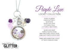 Tag Someone Who Would LOVE this Purple Love Floral Floating Locket and Charm Collection for Floating Charm Glass Memory Lockets & Necklaces! Shop Online at https://www.etsy.com/shop/SpilledGlitterSTL