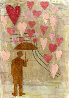 Love Rain original collage @ PaperPetite.etsy.com.....gives me a great project idea