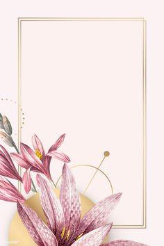 Framed Wallpaper, Flower Background Wallpaper, Beige Background, Cute Wallpaper Backgrounds, Flower Backgrounds, Background Patterns, Cute Wallpapers, Flower Graphic Design, Borders And Frames