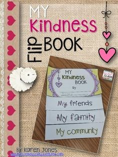 This little flip book is perfect for the month of February, any character building lesson, or just when you want your little ones to think about giving back. This book contains four pages that are perfect for small people to cut and assemble. Teaching Kindness, Kindness Activities, Art Activities, Social Emotional Learning, Social Skills, Books About Kindness, Kindness Challenge, Classroom Community, School Community