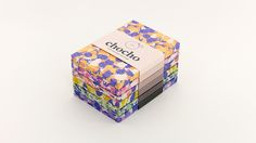 """Branding & Packaging Design for Chocho by Hee Jae Kim """"A chocolate branding project that explores packaging through type, icons, patterns and color. The patterns were inspired by observation of natural forms such as fruit and nuts, which I simplified. Candle Packaging, Print Packaging, Food Packaging, Blog Design Inspiration, Packaging Design Inspiration, Collateral Design, Branding Design, Brewery Design, Handmade Chocolates"""