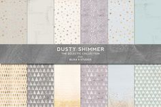 Dusty Shimmer Pastel & Foil Patterns by Blixa 6 Studios on @creativemarket