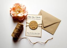 Custom Wood Save the Date Magnets with by DesignsByKaylaMarie
