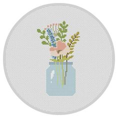 Image result for cross stitch flower