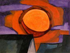The Athenaeum - November Moon (Oscar Bluemner - )