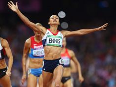 Jessica Ennis clinched heptathlon gold in dominant fashion by winning her 800 metres heat to spark an athletics gold rush.