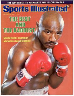 Best and Baddest Marvin Hagler Sports Illustrated Magazine - Complete Issue Tagline: The Best and the Baddest - Middleweight Champion Marvelous Marv Martial, Marvelous Marvin Hagler, Sports Ilustrated, Baseball Playoffs, Football, Si Cover, Boxing Posters, Sports Posters, Sports Illustrated Covers