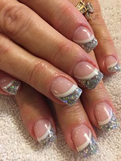 New to solar nails? Many people are which is why we've decided to give you all the details about solar nails, complete with design ideas! Solar Nail Designs, Nail Tip Designs, French Nail Designs, Art Designs, Sparkly Nails, Blue Nails, My Nails, Irish Nails, Solar Nails