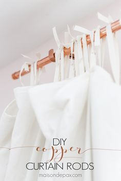 Copper is such a beautiful accent, and curtain rods can be so expensive! These DIY copper curtain rods are both chic and affordable, and they are so so easy to make. Read the full tutorial for how to make copper curtain rods.