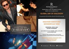 The Renaissance Phoenix Downtown Hotel is excited to bring you the 2013 Day of Discovery on June 19. This special day will feature a series of events that encourage every Discoverer to explore the different communities and cultures we share in our hometown. Stay tuned as we highlight all of the unique experiences to be had on Day of Discovery. #RDiscovery http://on.fb.me/13D5DV2