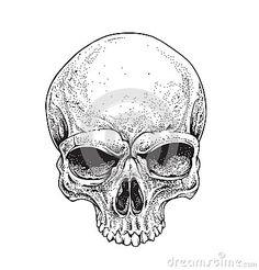 Resultado de imagen para dotwork skull