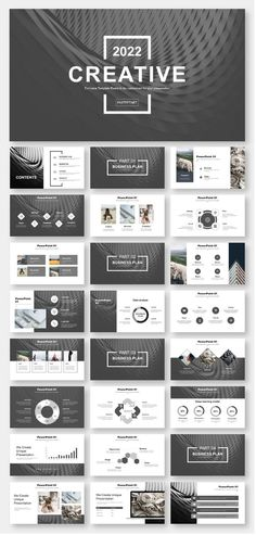 layout-ideen Black & White Simple Business Report PowerPoint Template – Original and high quality Po Ppt Design, Design Powerpoint Templates, Template Web, Creative Powerpoint, Slide Design, Keynote Template, Layout Design, Flyer Template, Index Design