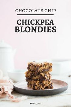 These high-protein, Chocolate Chip Chickpea Blondies make decadent treats, but they're nutritious enough to eat as a snack or for breakfast, too.   Yuri Elkaim