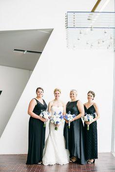 Black Bridesmaid Dresses   Summer Bridesmaid Dresses   Walker Art Center Wedding Summer Bridesmaid Dresses, Black Bridesmaids, Wedding Dresses, Walker Art, Getting Married, Real Weddings, Wedding Planner, Photography, Design
