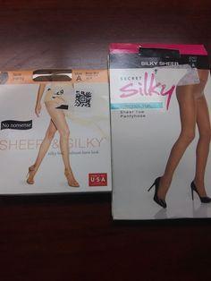 2e7498f8d93 No Nonsense Sheer Silky Lace Pantyhose Beige Mist  amp  Black Secret Silky  Size A