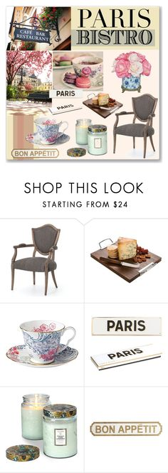 """Parisian Bistro."" by qamar-fashionista ❤ liked on Polyvore featuring interior, interiors, interior design, home, home decor, interior decorating, Martha Stewart, Rosanna, Voluspa and The French Bee"