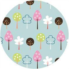 Anthology Fabrics, Fawn Meadow, Forest Aqua