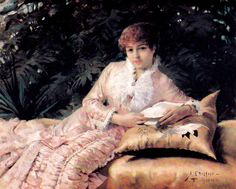 Albert Edelfelt Parisian Reading a Book I (Virginie), 1880 Painting Of Girl, Fashion Painting, Girl Paintings, Female Portrait, Portrait Art, Portraits, Vincent Van Gogh, Helene Schjerfbeck, Woman Reading