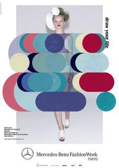 Mercedes-Benz Fashion Week Tokyo 2014 S/S poster design Typography Poster, Graphic Design Typography, Layout Inspiration, Graphic Design Inspiration, Layout Design, Design Art, Japanese Graphic Design, Collage Maker, Branding